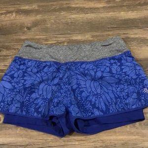 Blue workout shorts